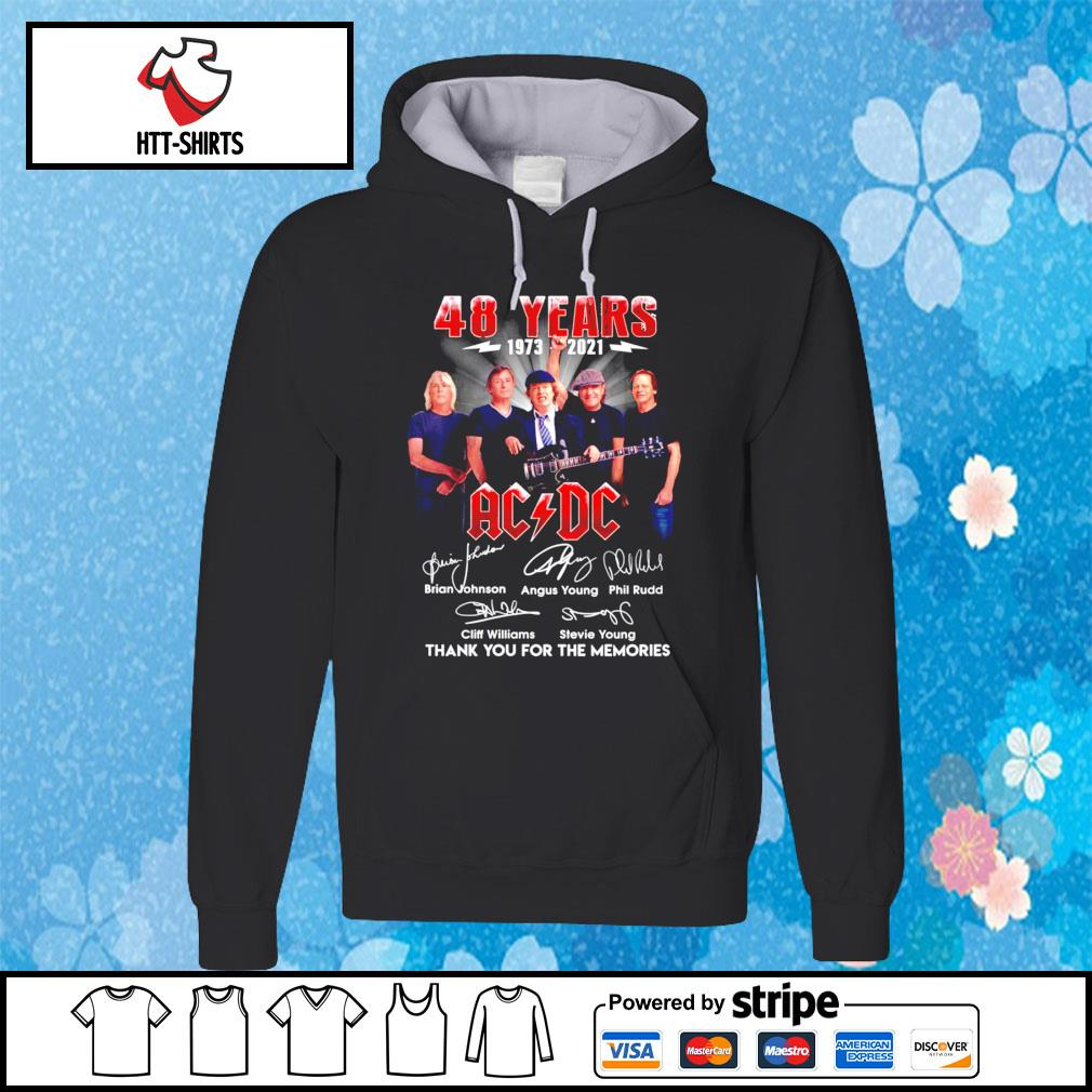 ACDC 48 years 1973-2021 signature thank you for the memories hoodie