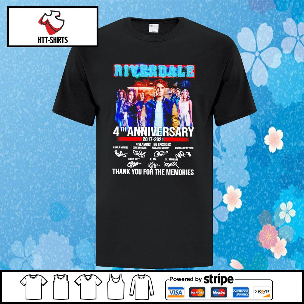 River Dale 4th anniversary 2017-2021 thank you for the memories signature shirt