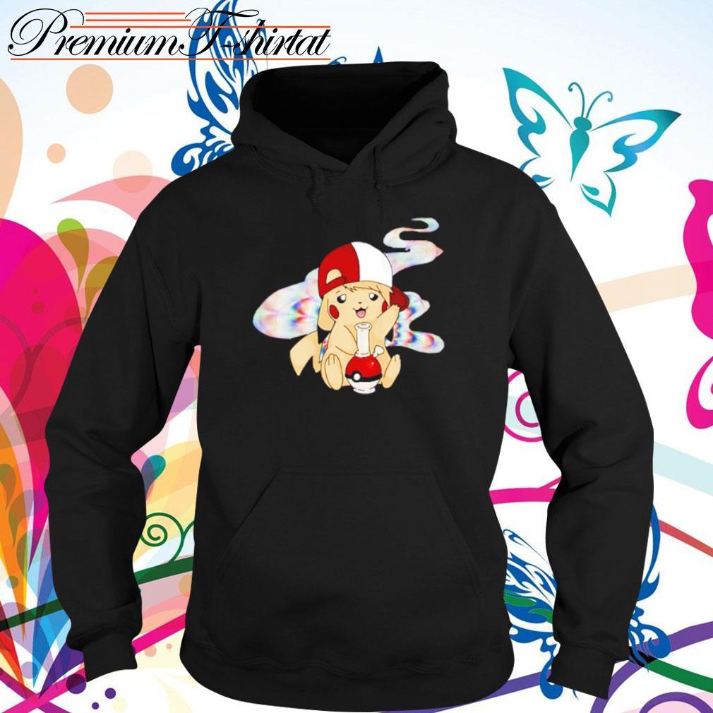 Pikachu Pokemon smoking weed s hoodie