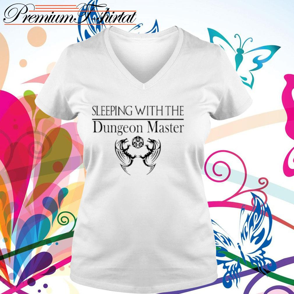 Sleeping with the Dungeon Master s v-neck t-shirt