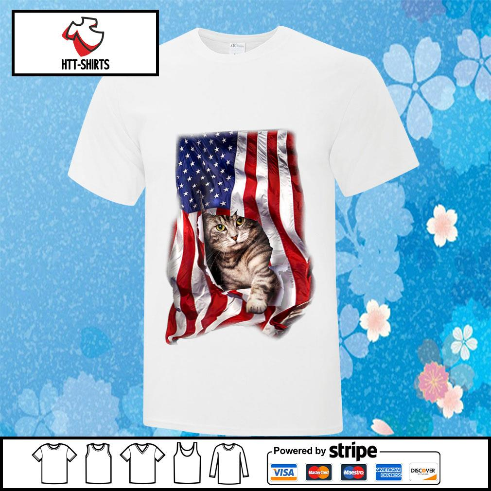 American Cat Flag Shirt