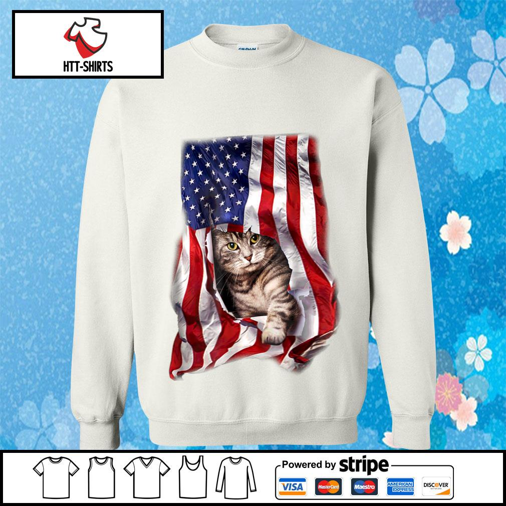 American Cat Flag Shirt sweater