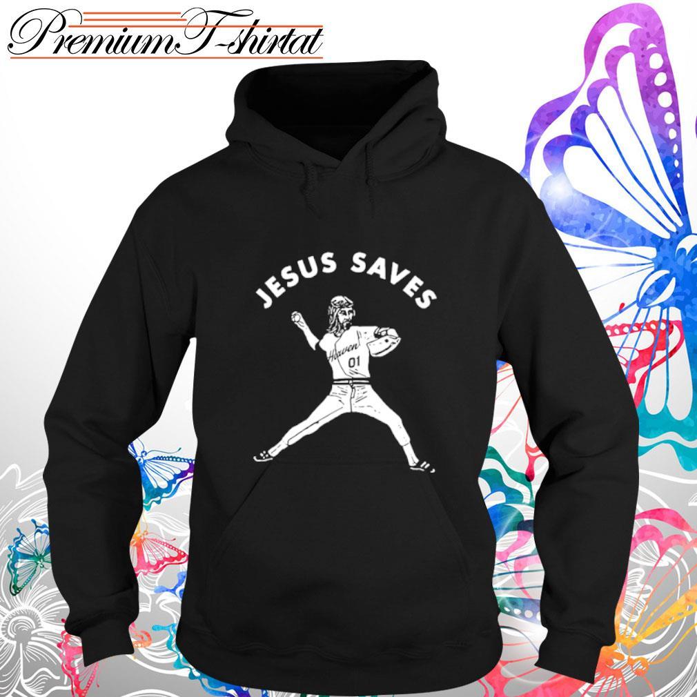 Baseball Jesus saves s hoodie