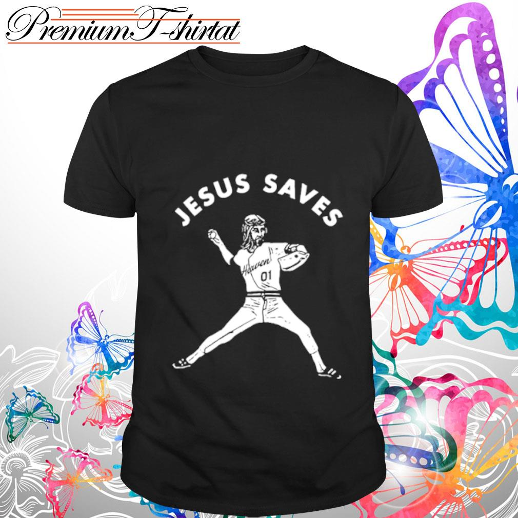 Baseball Jesus saves shirt