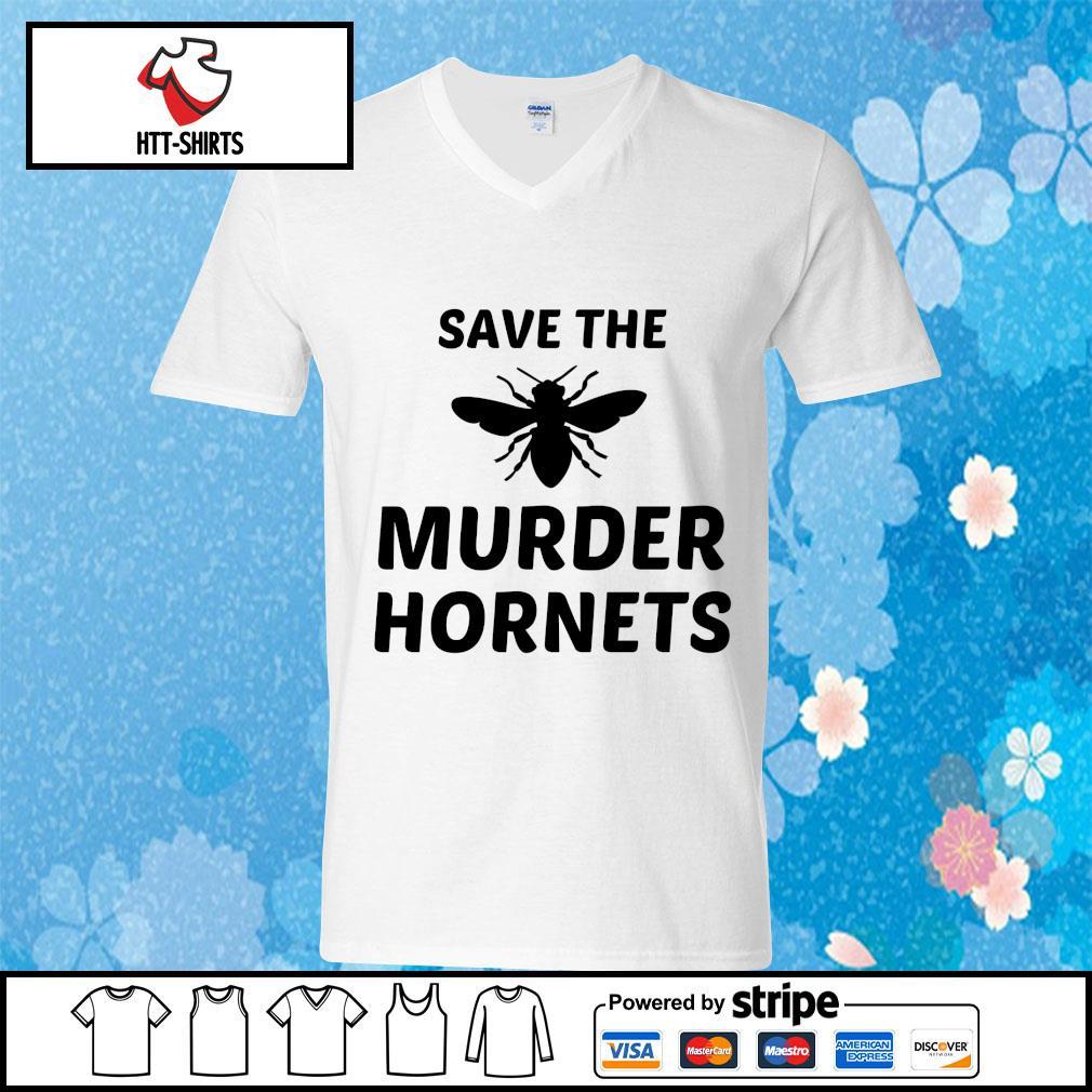 Bee Save the murder hornets s v-neck-t-shirt