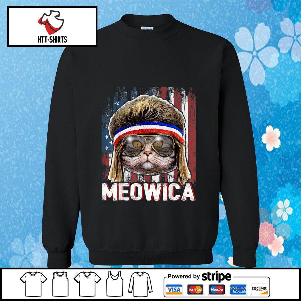 Cat Meowica American Flag 4th Of July Independence Day s sweater