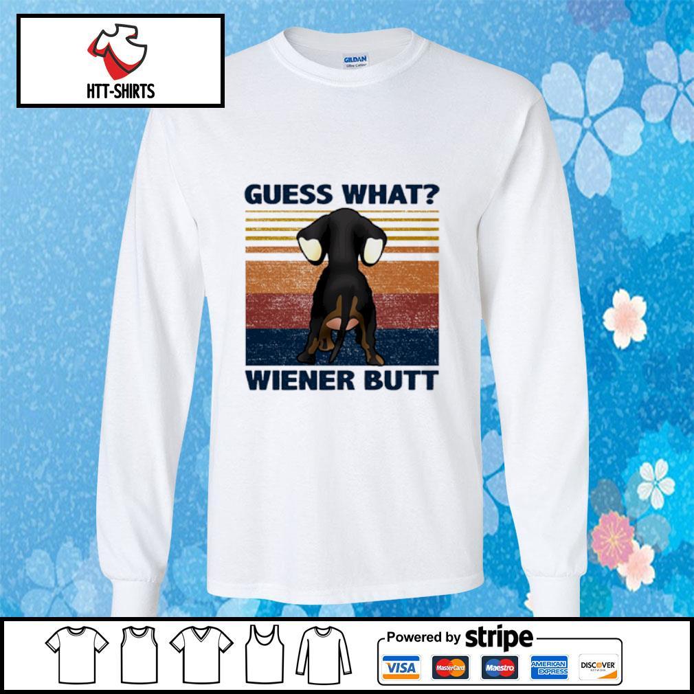 Guess what wiener butt vintage s longsleeve-tee