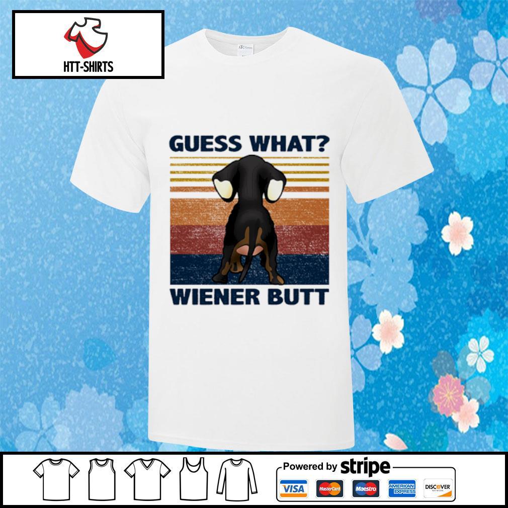 Guess what wiener butt vintage shirt