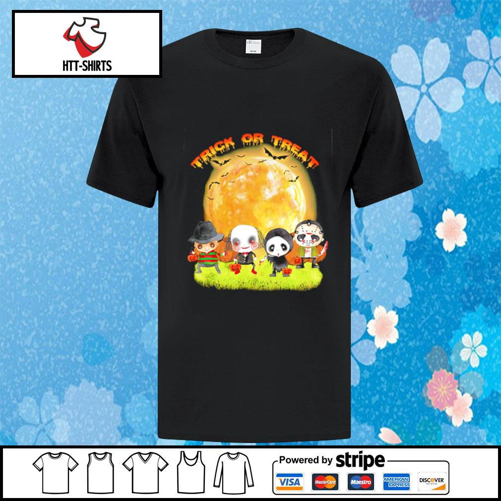 Horror characters trick or treat Halloween shirt