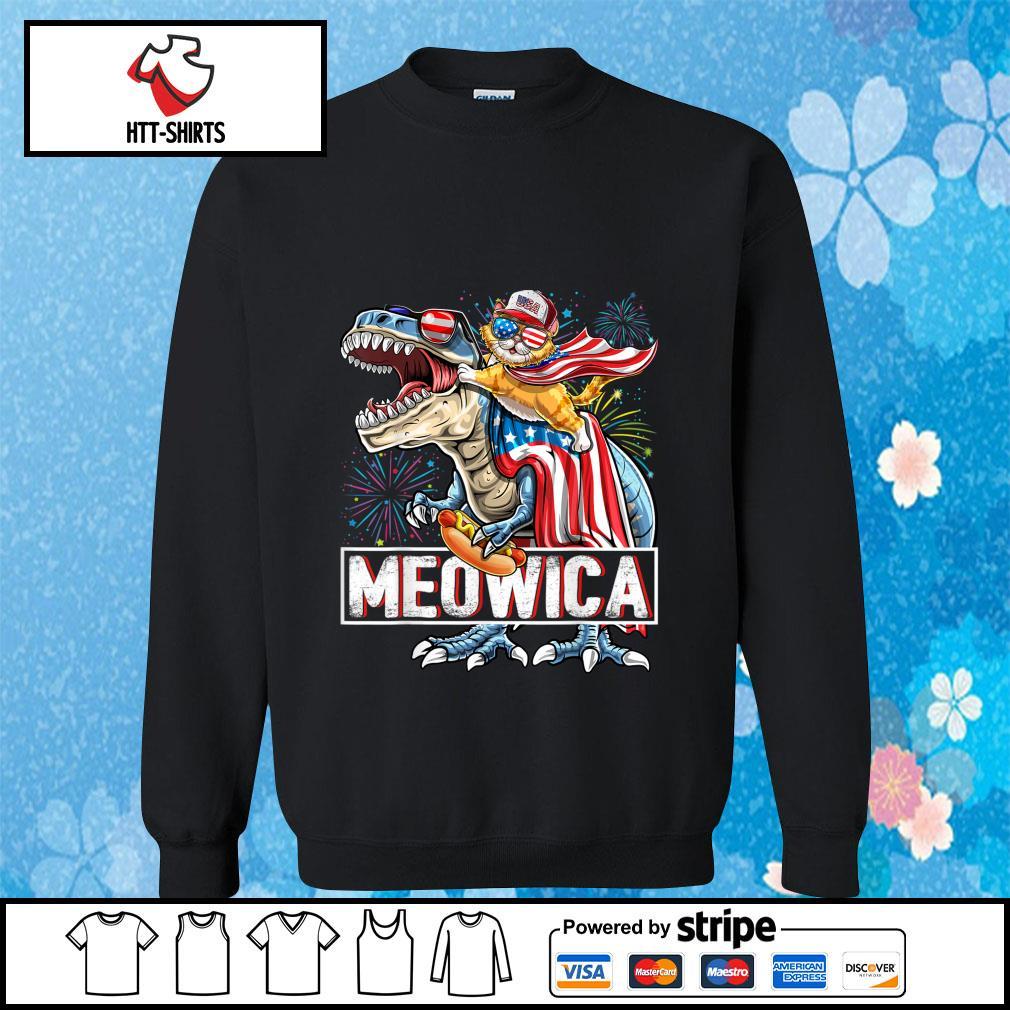 Meowica Amerisaurus Rex Happy Independence Day Shirt sweater