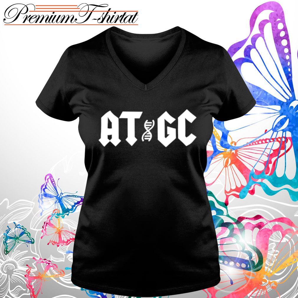 Official ATGC DNA s v-neck-t-shirt