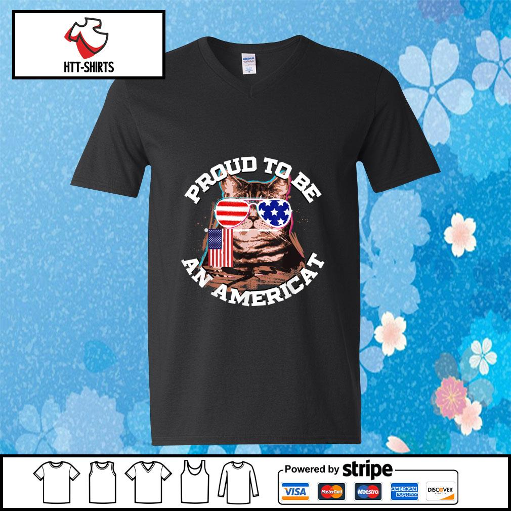 Proud To Be An Americat Happy Independence Day Shirt v-neck-t-shirt