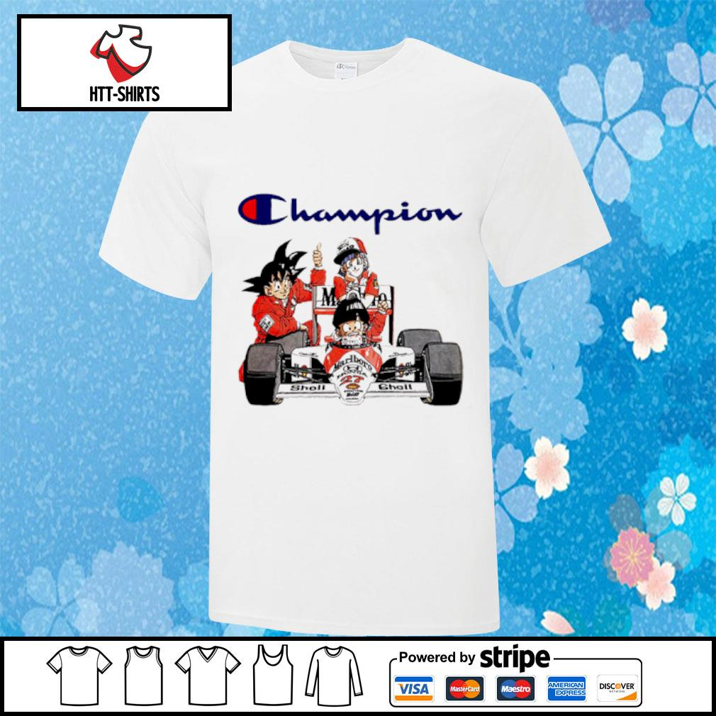 Formula One car Dragon Ball Champion shirt