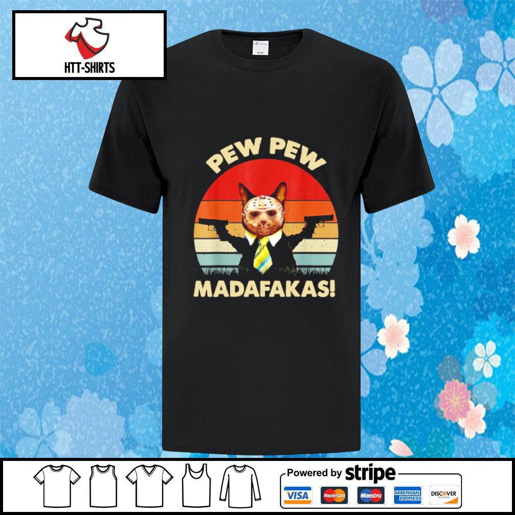 Jason Voorhees cat pew pew madafakas vintage shirt