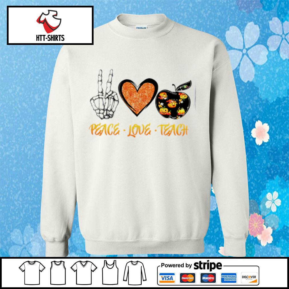 Peace love teach Halloween s sweater