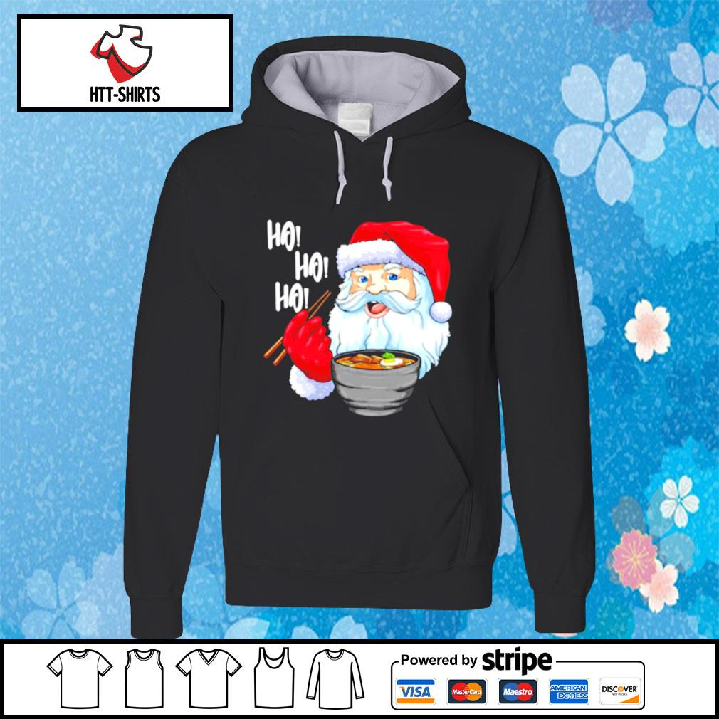 Awesome Santa Claus Eats Noodles Merry Christmas s hoodie