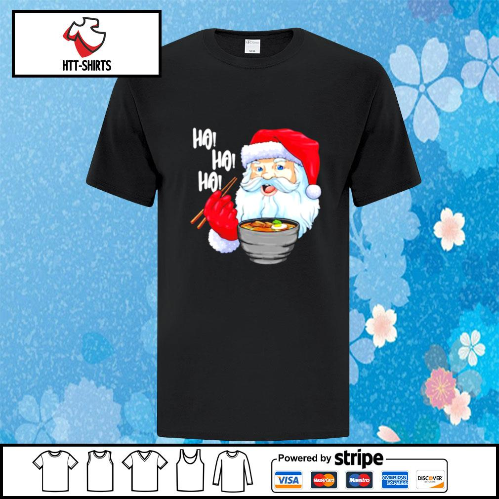 Awesome Santa Claus Eats Noodles Merry Christmas shirt