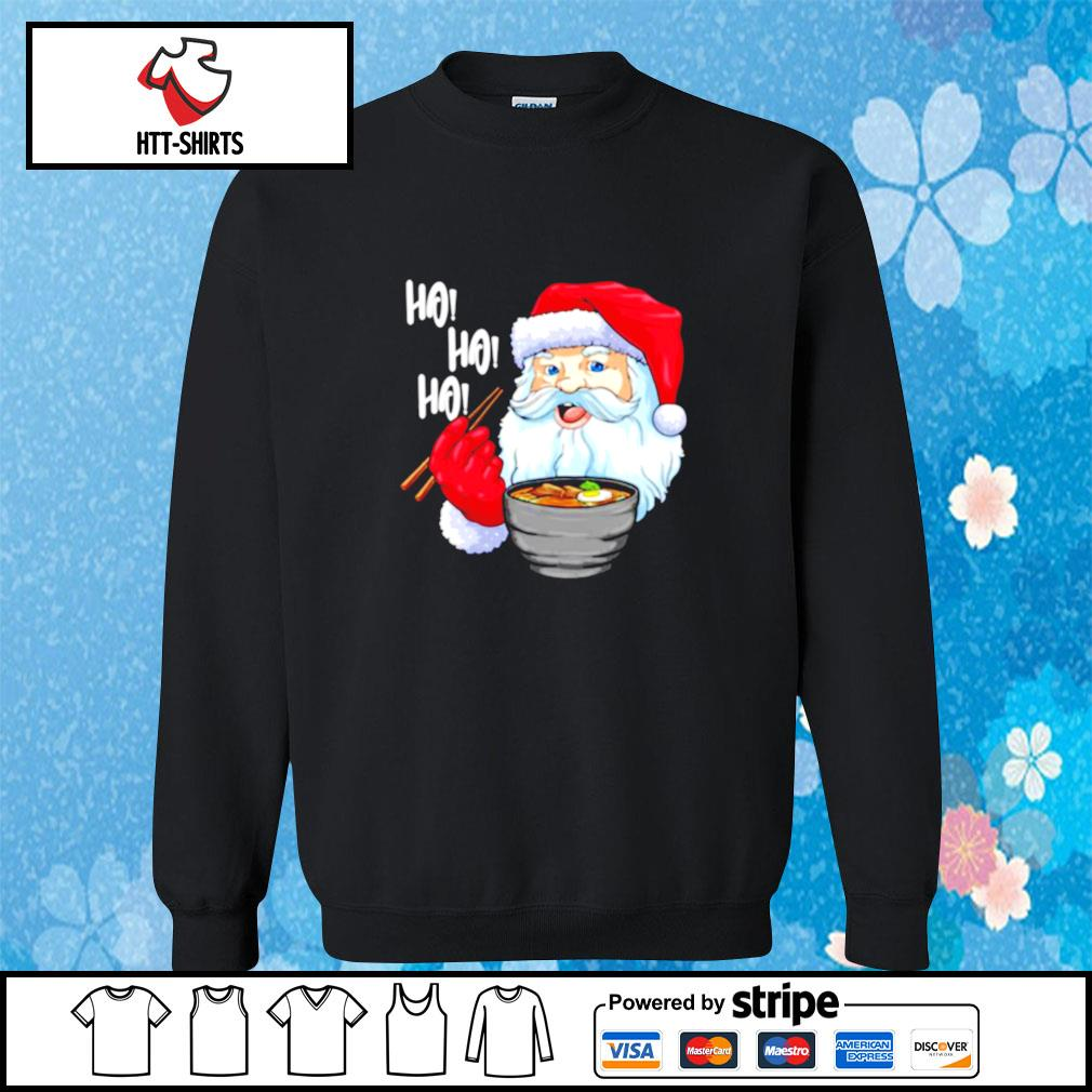 Awesome Santa Claus Eats Noodles Merry Christmas s sweater