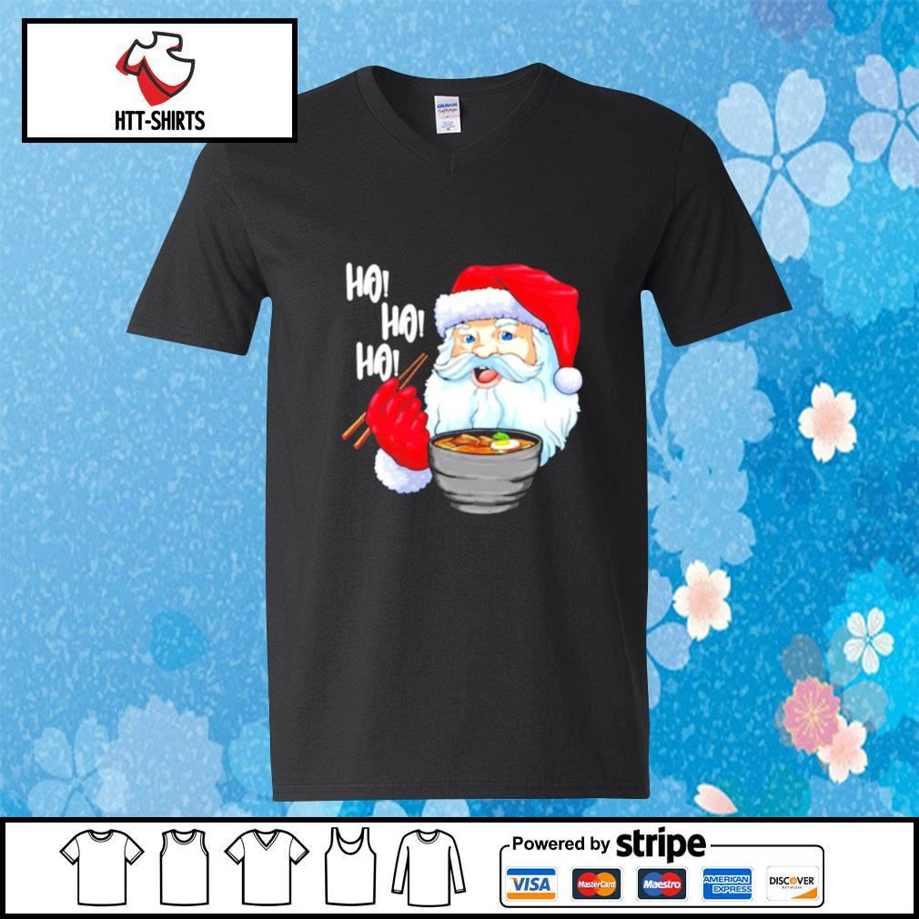 Awesome Santa Claus Eats Noodles Merry Christmas s v-neck-t-shirt