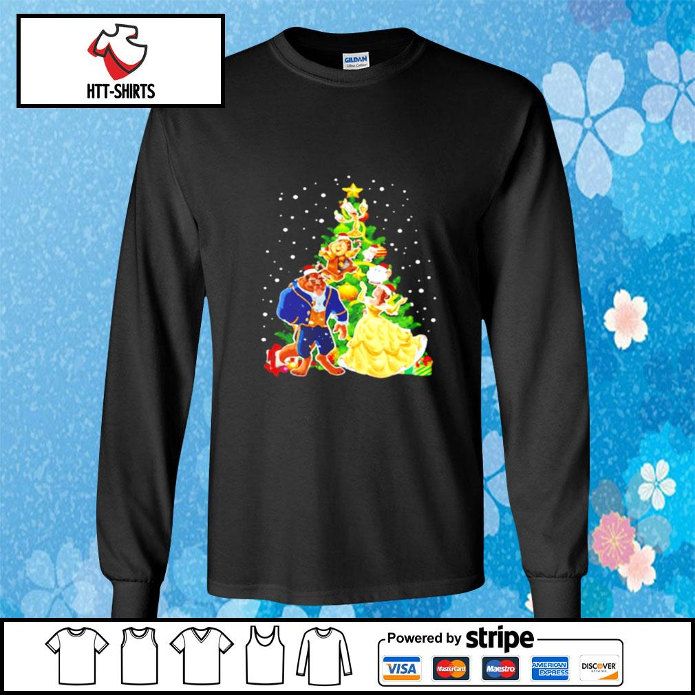 Beauty And The Beast Christmas Tree s longsleeve-tee