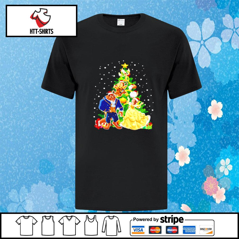 Beauty And The Beast Christmas Tree shirt
