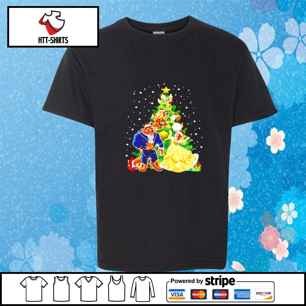 Beauty And The Beast Christmas Tree s youth-tee