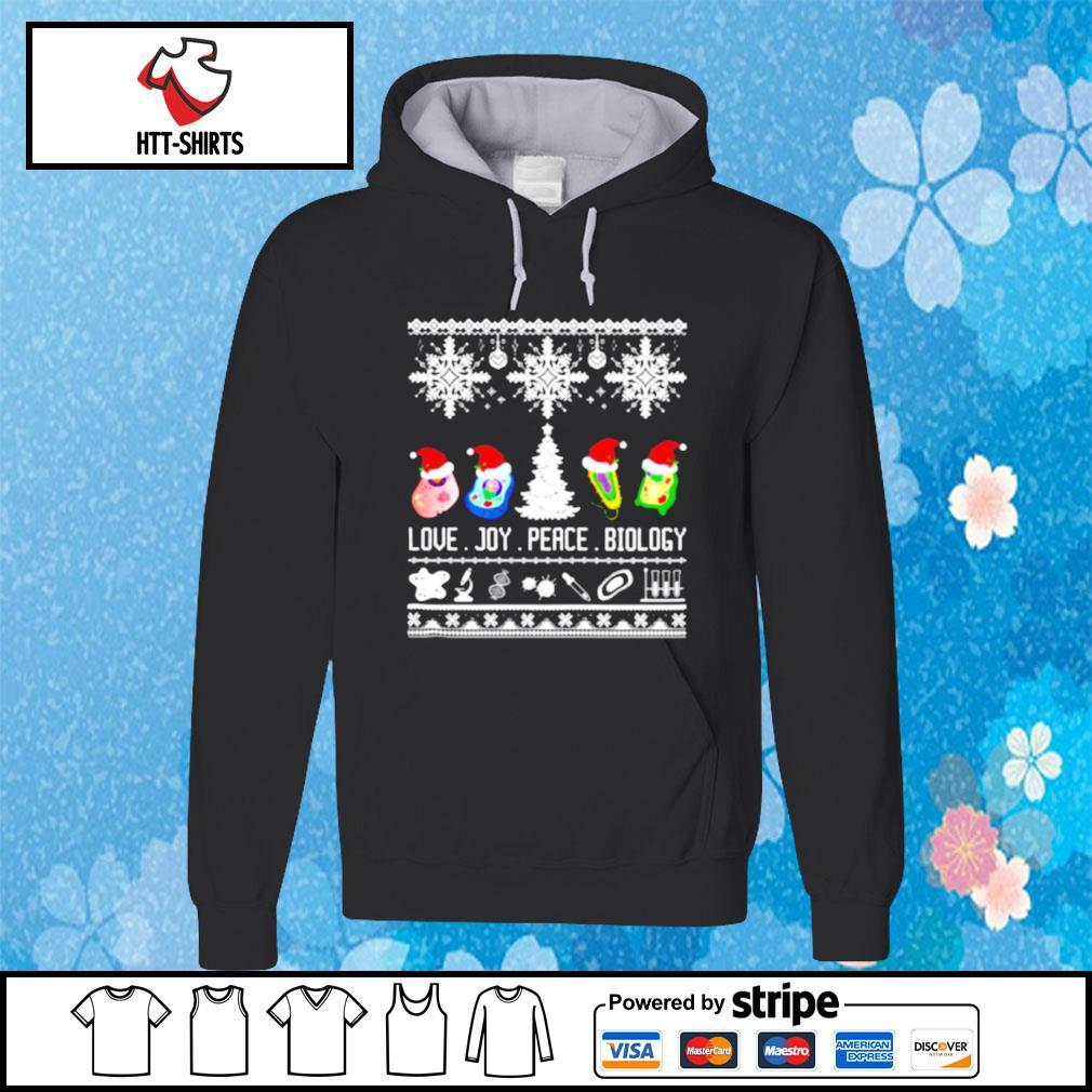 Biology Joke Love Joy Peace Biology Ugly Christmas s hoodie