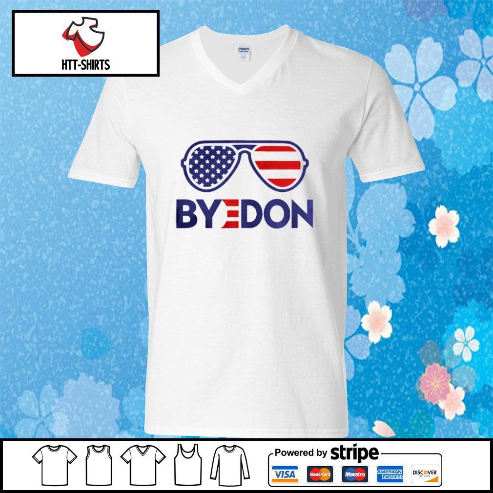 Byedon Funny Joe Biden Wins 2020 Election Sunglasses American Flag s v-neck-t-shirt