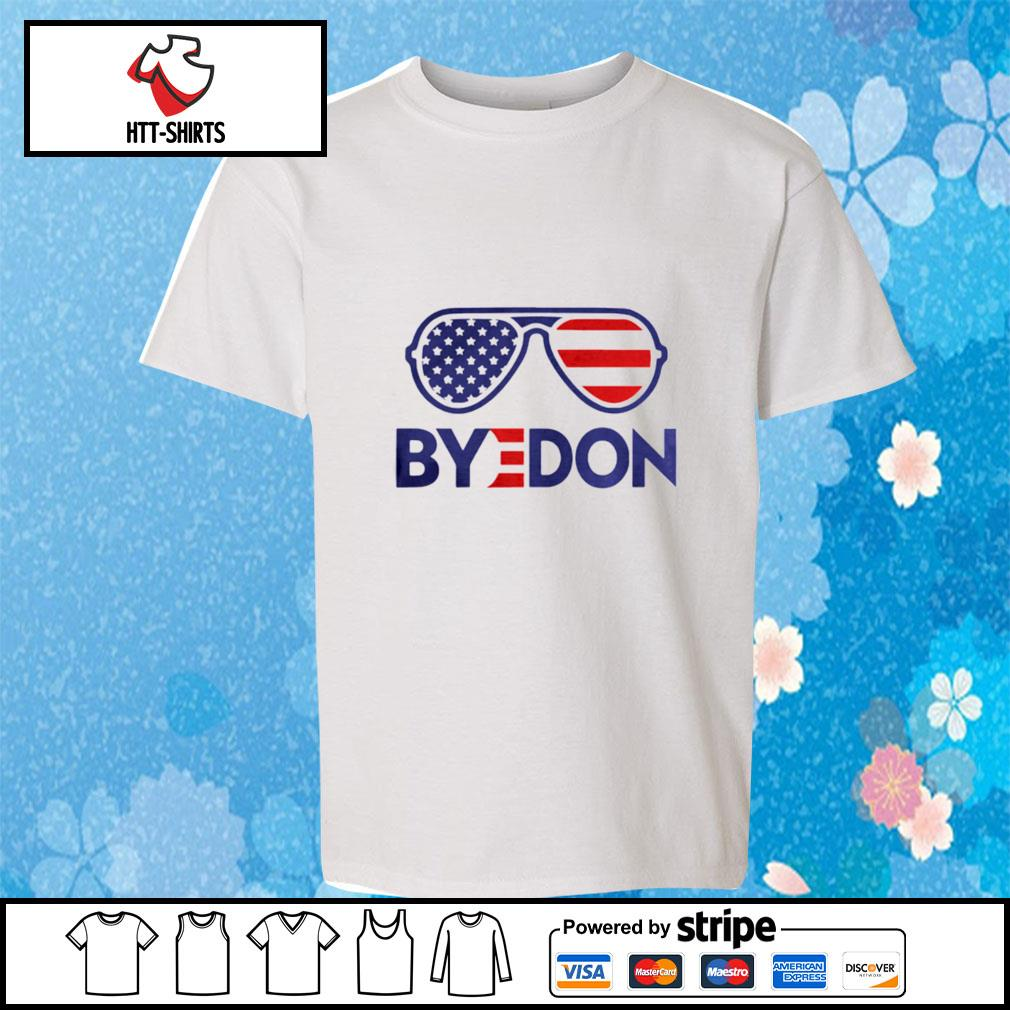Byedon Funny Joe Biden Wins 2020 Election Sunglasses American Flag s youth-tee