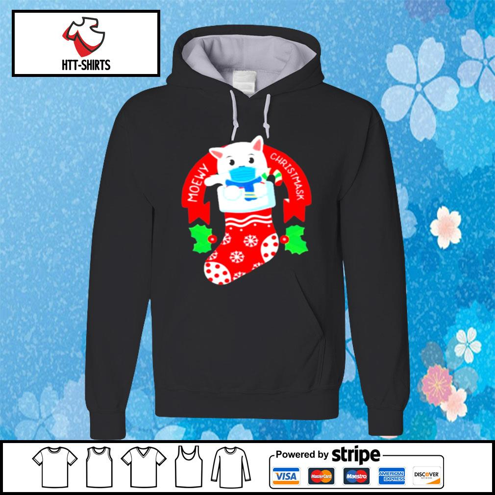 Cute Cat Face Mask Funny Christmas Stocking s hoodie