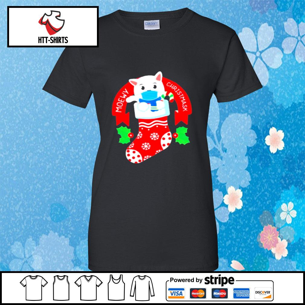 Cute Cat Face Mask Funny Christmas Stocking s ladies-tee