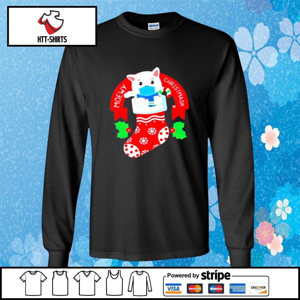 Cute Cat Face Mask Funny Christmas Stocking s longsleeve-tee