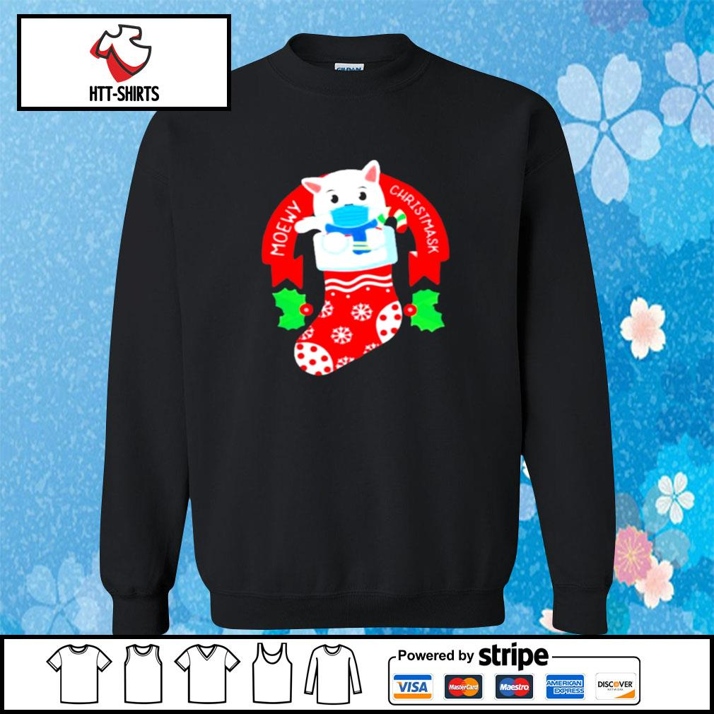 Cute Cat Face Mask Funny Christmas Stocking s sweater