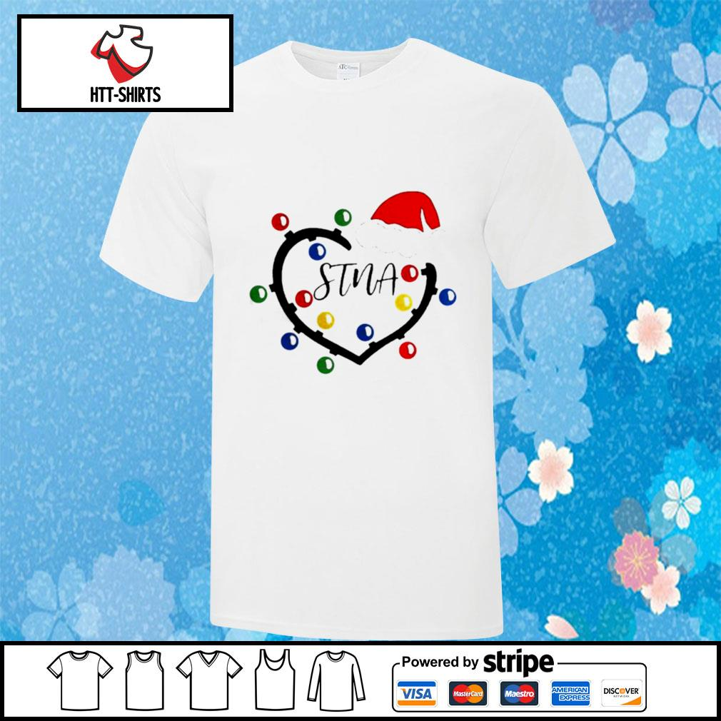 Heart Santa Stna Light Christmas shirt
