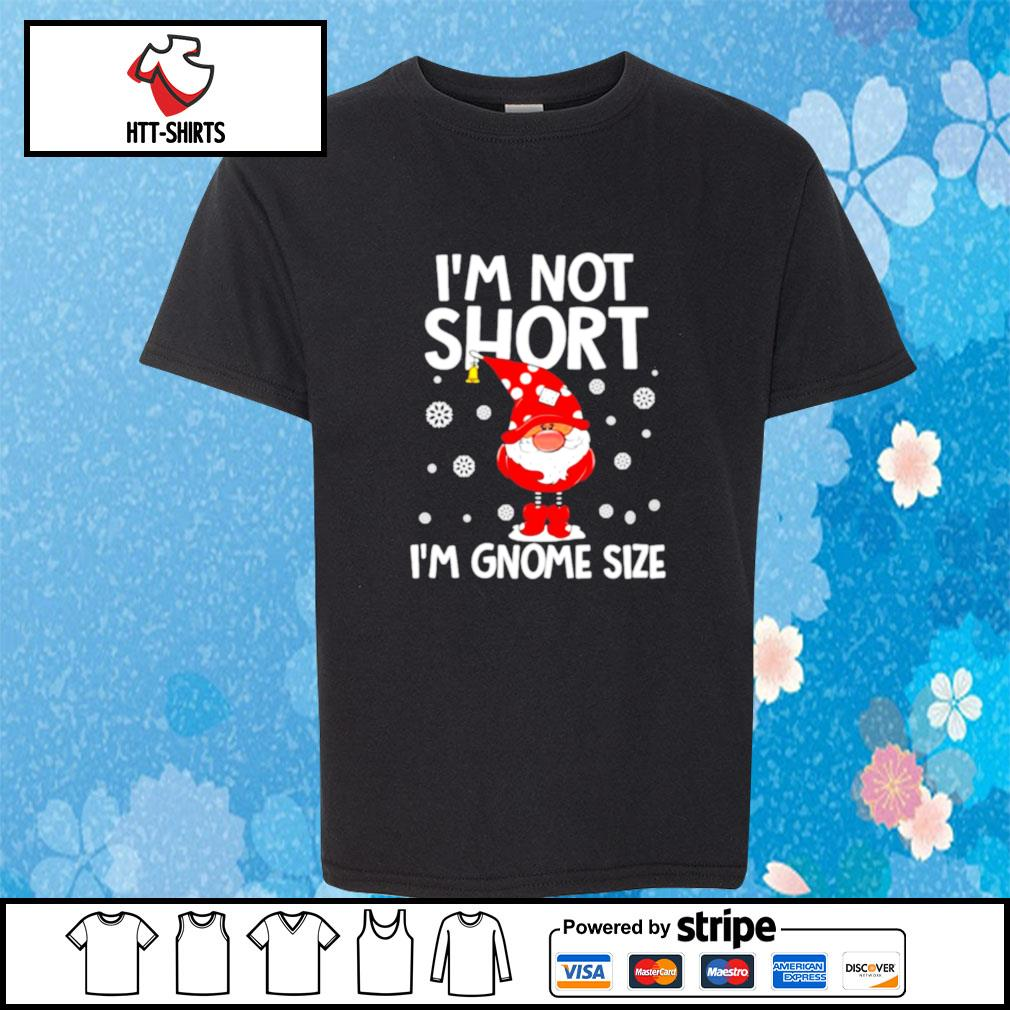 I'm not short i'm gnome size christmas 2020 s youth-tee