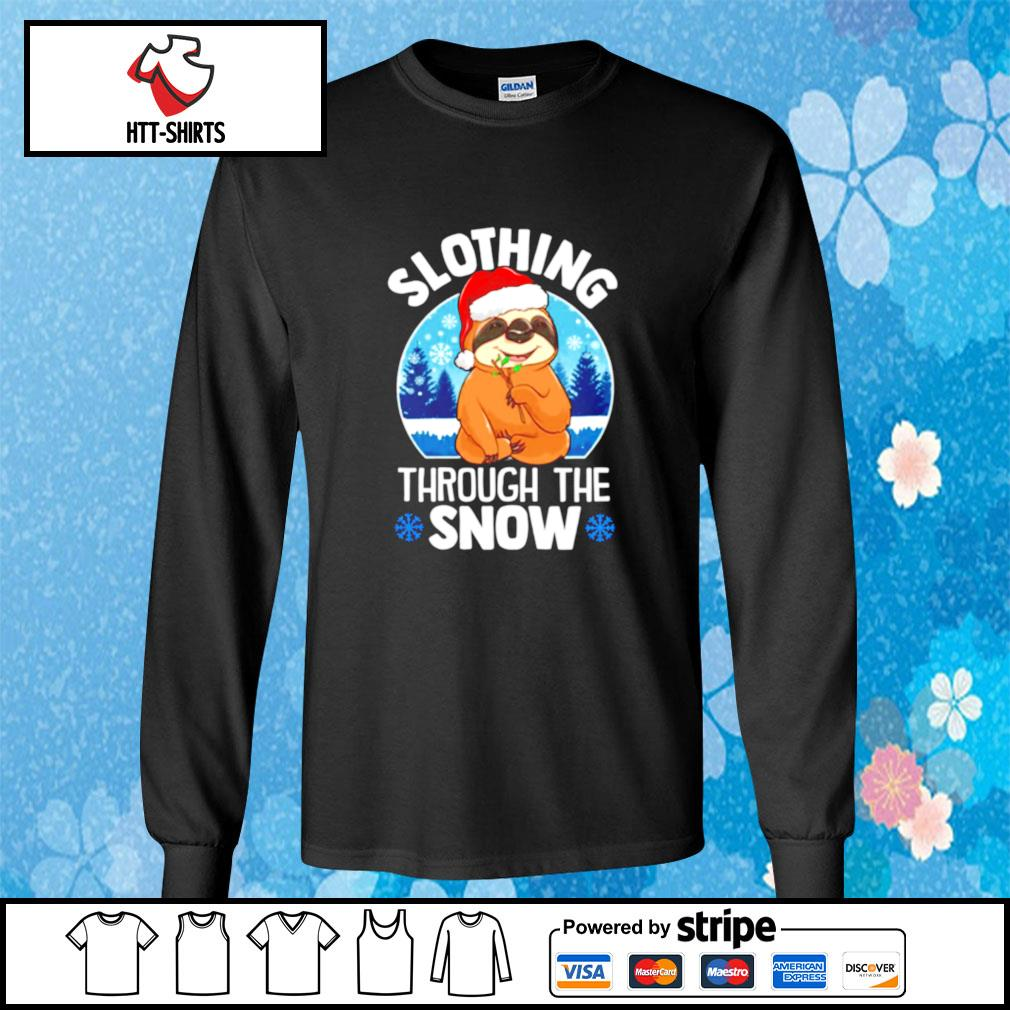 Slothing through the snow s longsleeve-tee