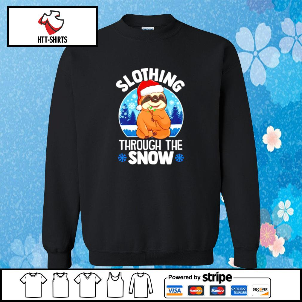Slothing through the snow s sweater