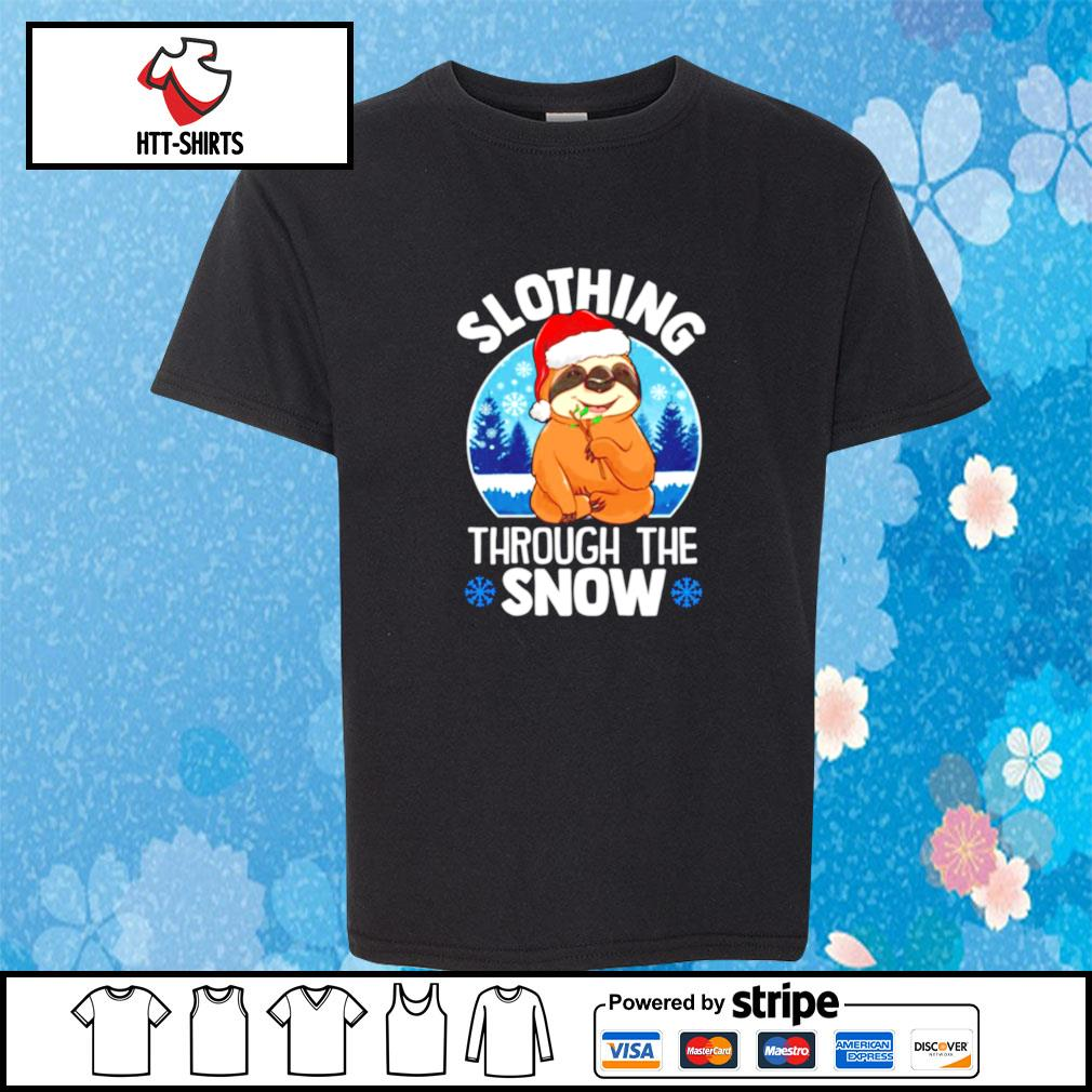 Slothing through the snow s youth-tee