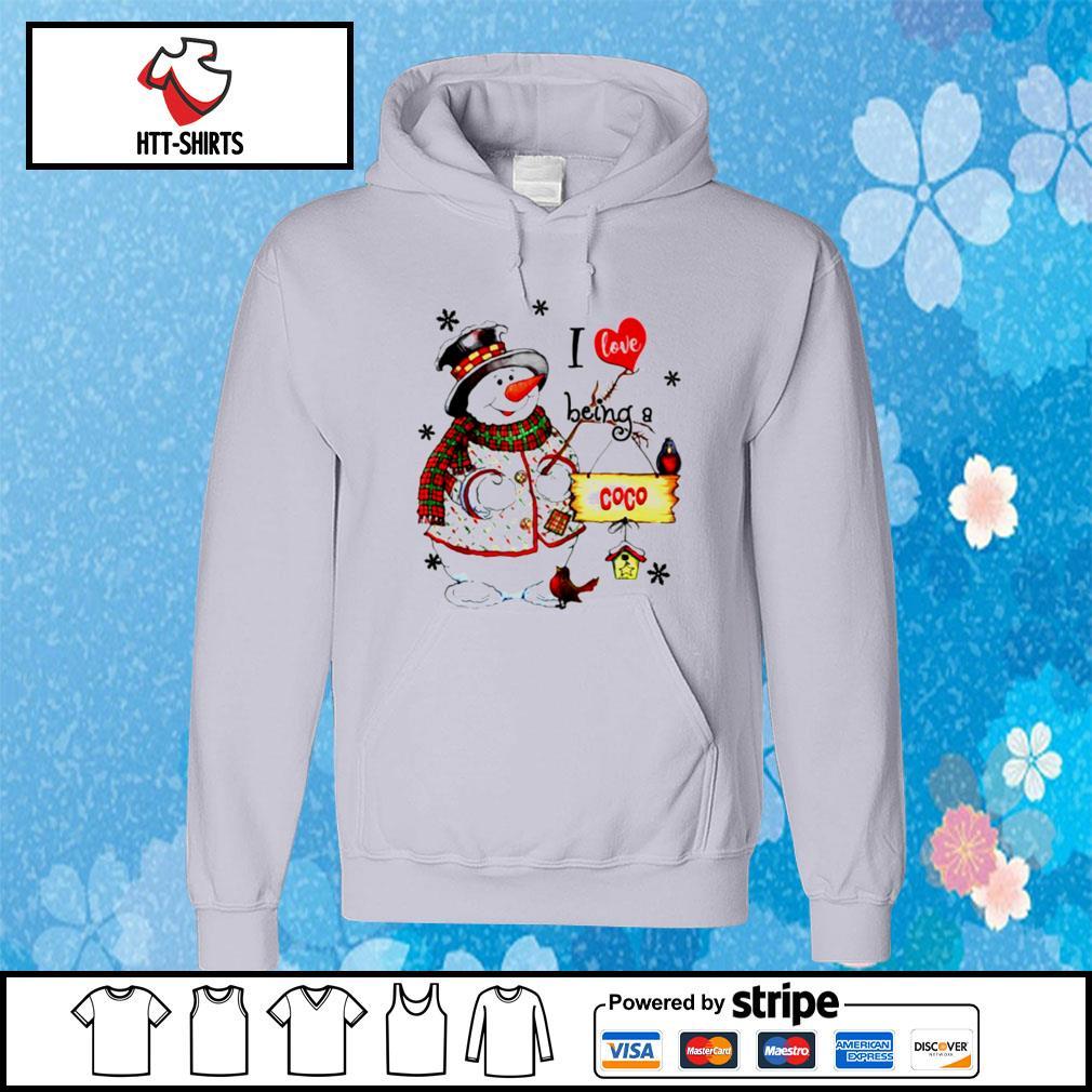 I Love Being A Coco Snowman Grandma s hoodie