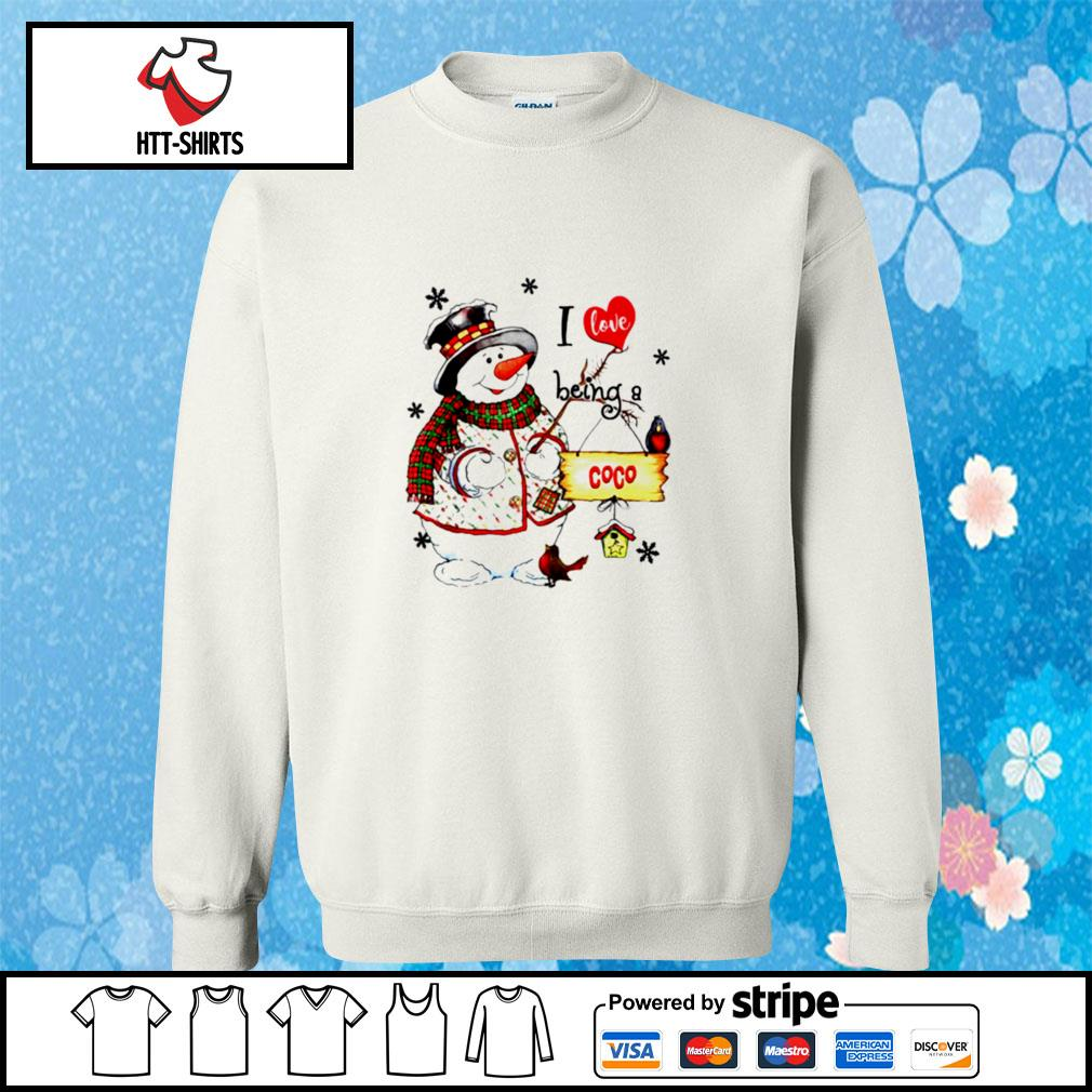 I Love Being A Coco Snowman Grandma s sweater