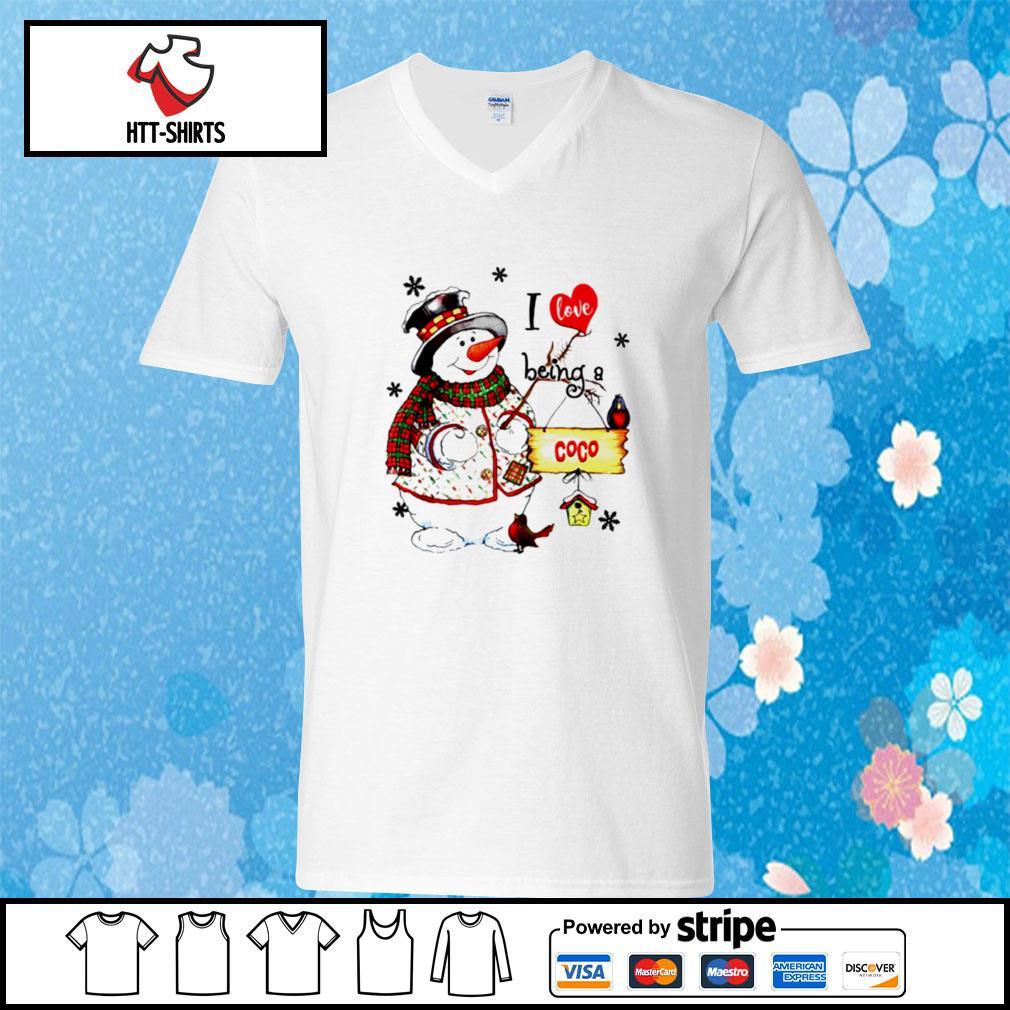 I Love Being A Coco Snowman Grandma s v-neck-t-shirt