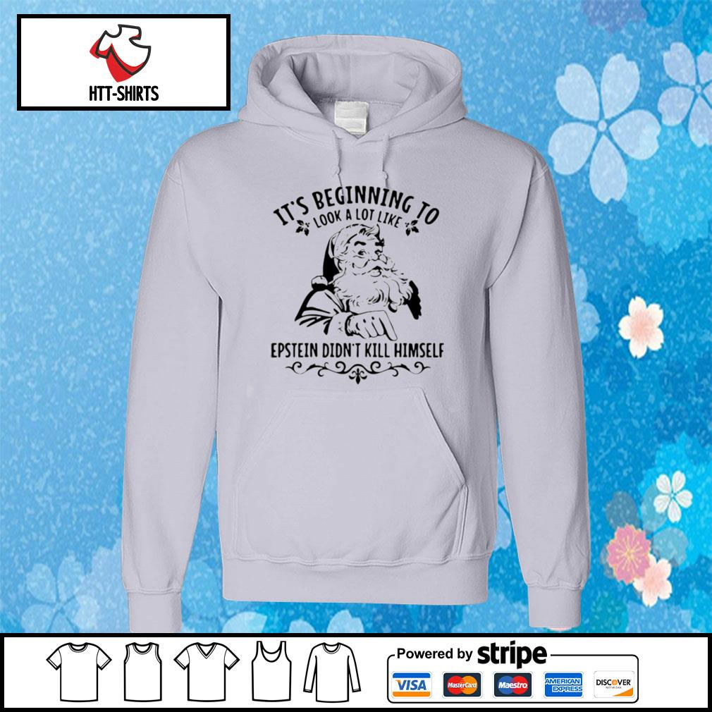 Its Beginning To Look A Lot Like Epstein Didnt Kill Himself Funny Santa Christmas s hoodie
