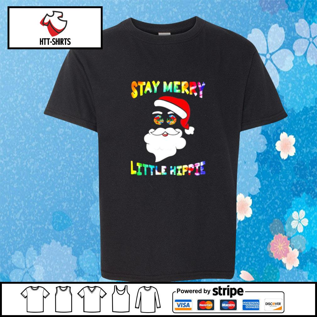 Santa Claus Stay Merry Little Hippie s youth-tee